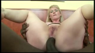 Anal with a big black cock